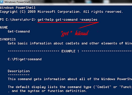 Windows PowerShell aken